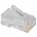 AMP Category 5 Modular Plug, Unshielded, RJ45, 26-24AWG, Solid